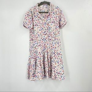 Gap Kids Button Up Heart Pleated Dress 10 Regular